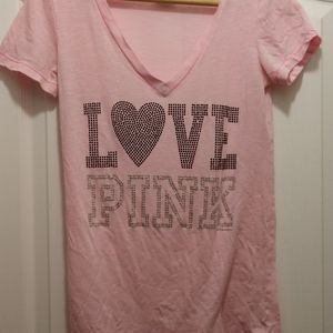 Victoria Secret PINK rhinestone top size xs